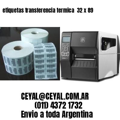 etiquetas transferencia termica  32 x 89