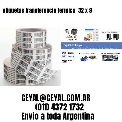 etiquetas transferencia termica  32 x 9