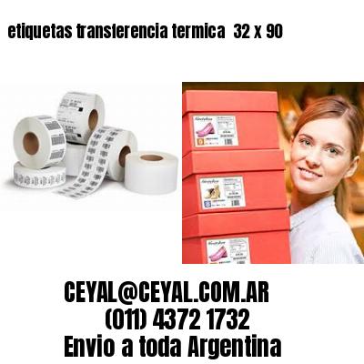 etiquetas transferencia termica  32 x 90