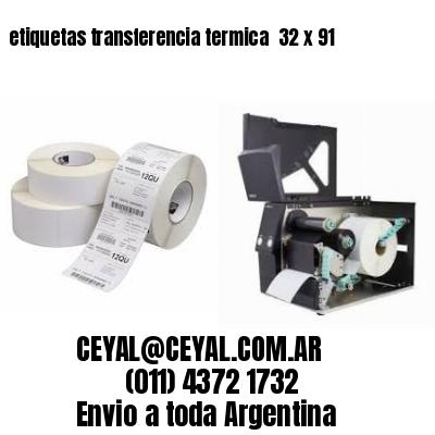 etiquetas transferencia termica  32 x 91