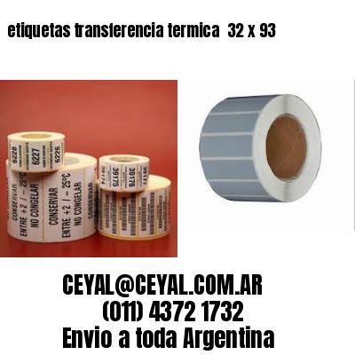etiquetas transferencia termica  32 x 93
