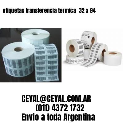 etiquetas transferencia termica  32 x 94