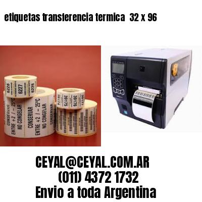 etiquetas transferencia termica  32 x 96