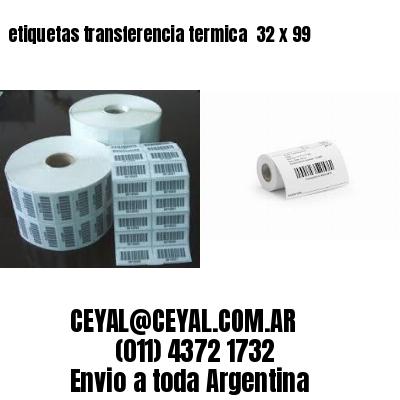 etiquetas transferencia termica  32 x 99