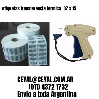 etiquetas transferencia termica  37 x 15