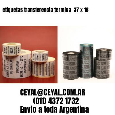 etiquetas transferencia termica  37 x 16