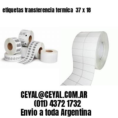 etiquetas transferencia termica  37 x 18
