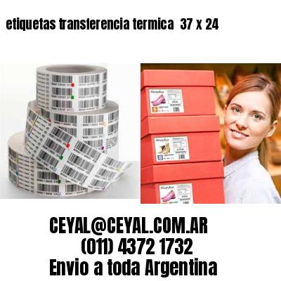 etiquetas transferencia termica  37 x 24