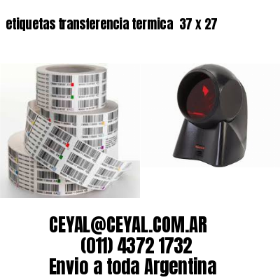 etiquetas transferencia termica  37 x 27