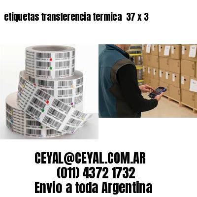 etiquetas transferencia termica  37 x 3