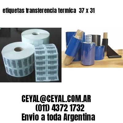 etiquetas transferencia termica  37 x 31