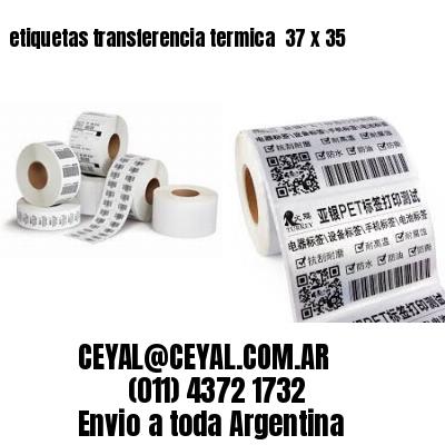 etiquetas transferencia termica  37 x 35