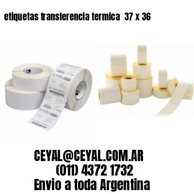 etiquetas transferencia termica  37 x 36