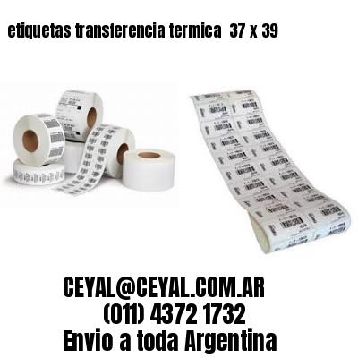 etiquetas transferencia termica  37 x 39