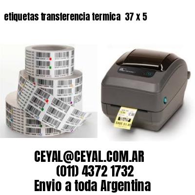 etiquetas transferencia termica  37 x 5