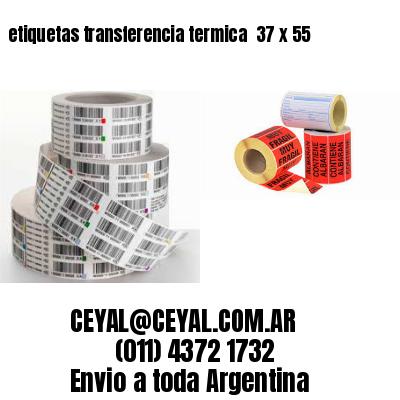 etiquetas transferencia termica  37 x 55