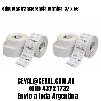 etiquetas transferencia termica  37 x 56
