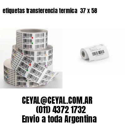 etiquetas transferencia termica  37 x 58