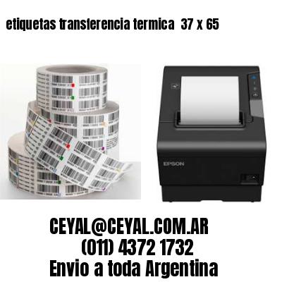 etiquetas transferencia termica  37 x 65