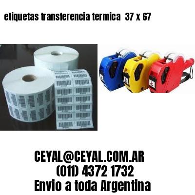 etiquetas transferencia termica  37 x 67