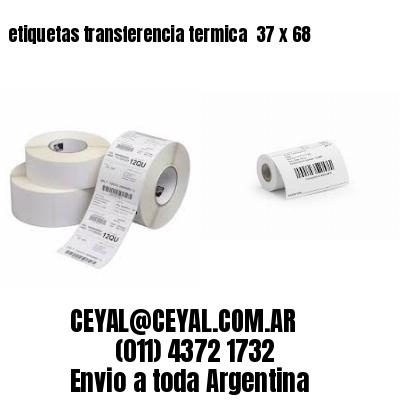 etiquetas transferencia termica  37 x 68
