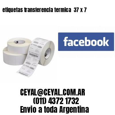 etiquetas transferencia termica  37 x 7