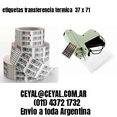 etiquetas transferencia termica  37 x 71