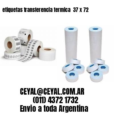 etiquetas transferencia termica  37 x 72