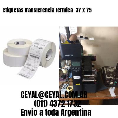 etiquetas transferencia termica  37 x 75