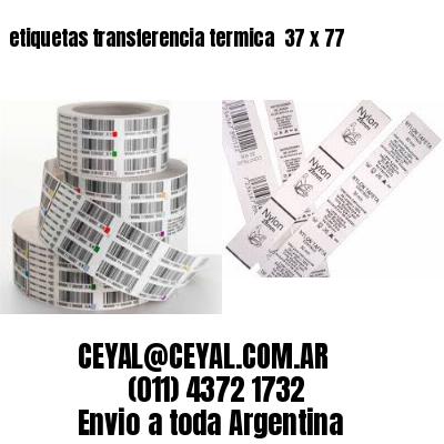 etiquetas transferencia termica  37 x 77