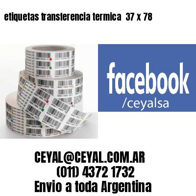 etiquetas transferencia termica  37 x 78