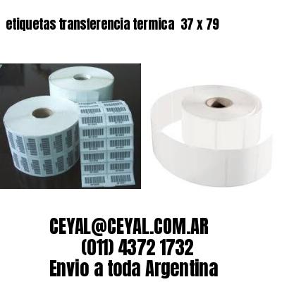 etiquetas transferencia termica  37 x 79