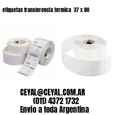 etiquetas transferencia termica  37 x 80