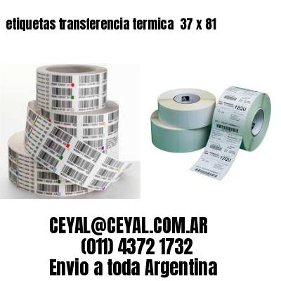 etiquetas transferencia termica  37 x 81