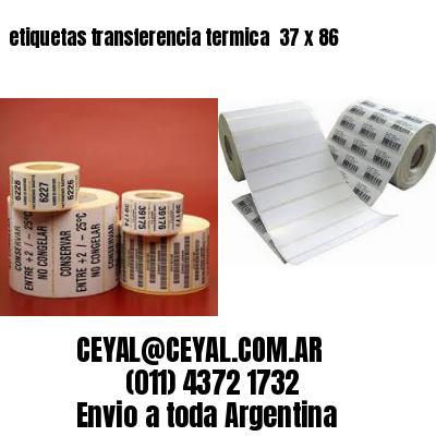 etiquetas transferencia termica  37 x 86