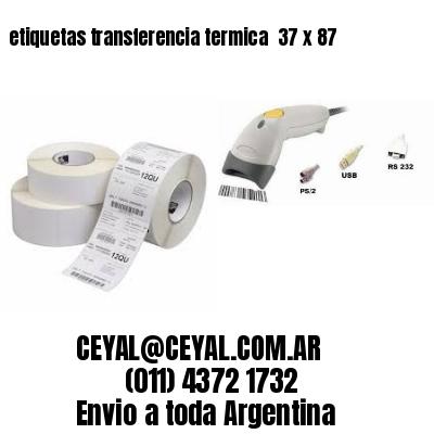 etiquetas transferencia termica  37 x 87