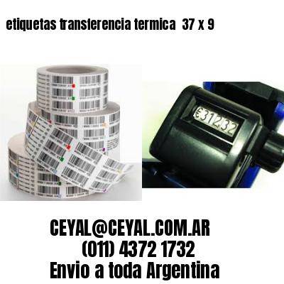 etiquetas transferencia termica  37 x 9