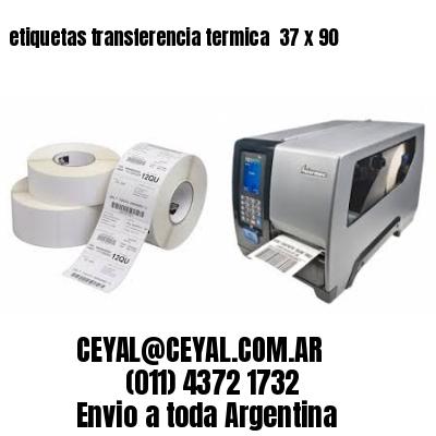 etiquetas transferencia termica  37 x 90