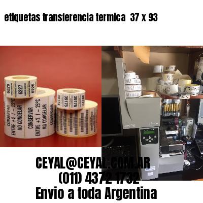 etiquetas transferencia termica  37 x 93