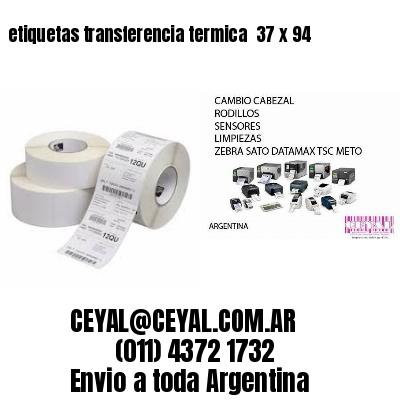 etiquetas transferencia termica  37 x 94