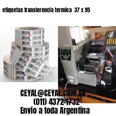 etiquetas transferencia termica  37 x 95