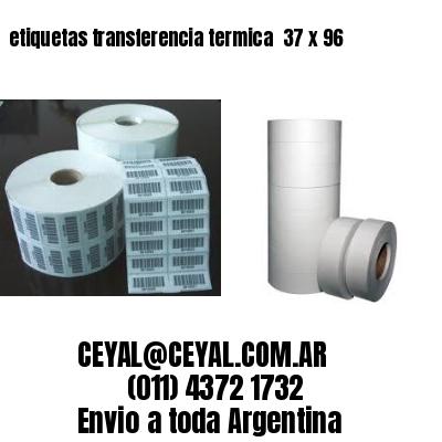 etiquetas transferencia termica  37 x 96
