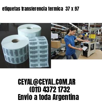 etiquetas transferencia termica  37 x 97