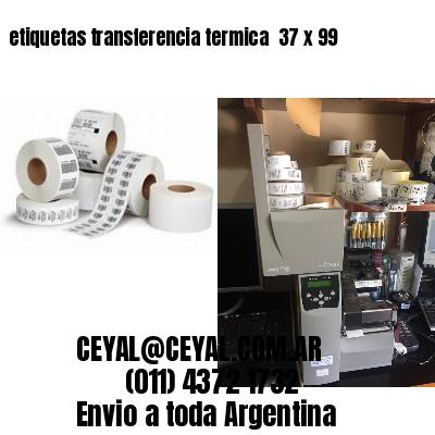 etiquetas transferencia termica  37 x 99