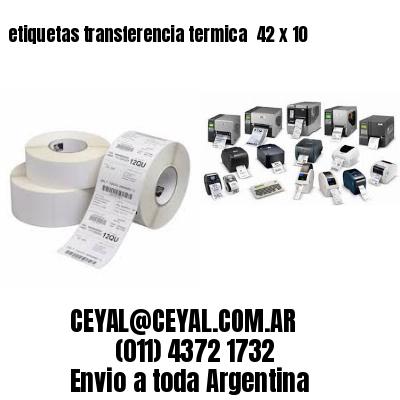 etiquetas transferencia termica  42 x 10