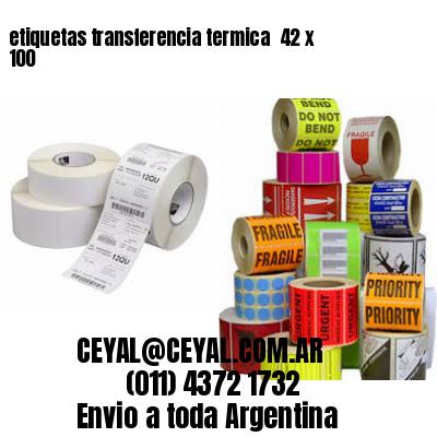 etiquetas transferencia termica  42 x 100