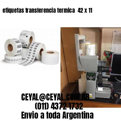 etiquetas transferencia termica  42 x 11