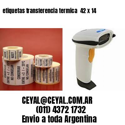 etiquetas transferencia termica  42 x 14