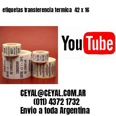 etiquetas transferencia termica  42 x 16