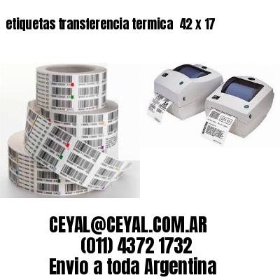 etiquetas transferencia termica  42 x 17